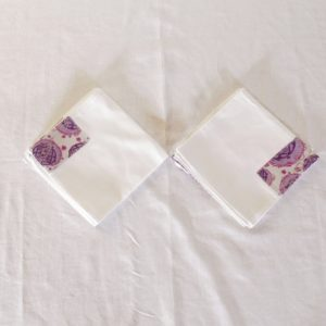 Nappe de table + 8 serviettes en lin et pagne woodin